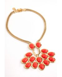 Trina Turk - Orange Cabochon Necklace - Lyst