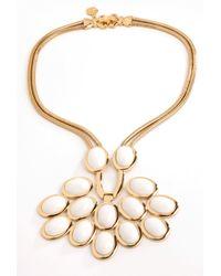Trina Turk - Metallic Cabochon Necklace - Lyst