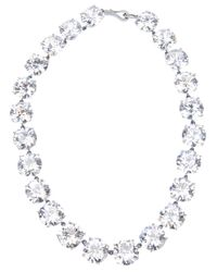 Bottega Veneta | Metallic Set Zircon Necklace | Lyst