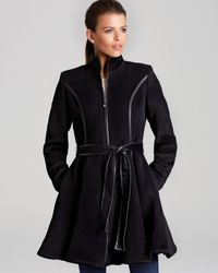 Dawn Levy | Gray Coat Fergie Skirted with Belt | Lyst