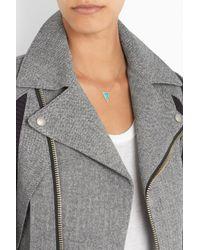 Jennifer Meyer - Blue 18karat Gold Turquoise and Diamond Triangle Necklace - Lyst