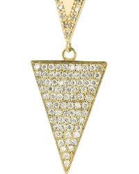 Jennifer Meyer - Metallic 18karat Gold Diamond Triangle Earrings - Lyst