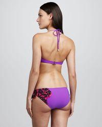 Marc By Marc Jacobs - Purple Santiago Floral Print Underwire Halter Top - Lyst