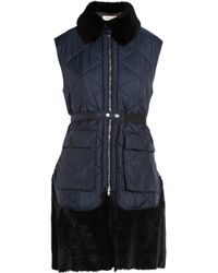 Marni | Black Shearling-trimmed Quilted Gilet | Lyst