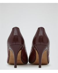 Reiss - Dani Textured Two Tone Court Shoes - Lyst