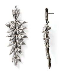 R.j. Graziano | Metallic Flower Fan Linear Earrings | Lyst