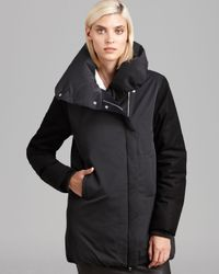 Theory - Black Coat Briola Past Tech - Lyst
