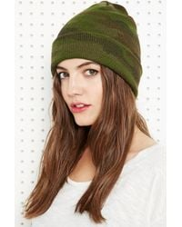Urban Outfitters - Green Beanie Hat in Camo - Lyst