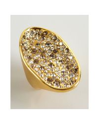 Alexis Bittar | Metallic Gold Plated Crystal Pool Ring | Lyst