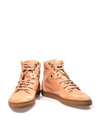 Balenciaga | Pink Leather and Suede High Top Trainers | Lyst