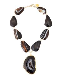 Devon Leigh | Yellow Freeform Agate Pendant Necklace | Lyst