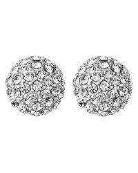 Dyrberg/Kern | Metallic Dyrberg/kern Gianda Round Crystal Stud Earrings | Lyst