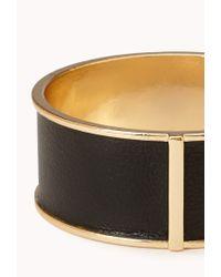 Forever 21 | Metallic Sleek Faux Leather Bangle | Lyst