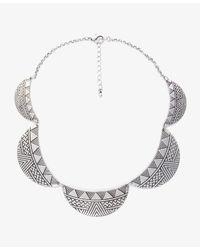 Forever 21 - Metallic Cutout Peter Pan Collar Bib Necklace - Lyst