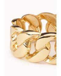 Forever 21 - Metallic Sleek Curb Chain Cuff - Lyst