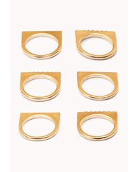 Forever 21 - Metallic Flat Top Ring Set - Lyst