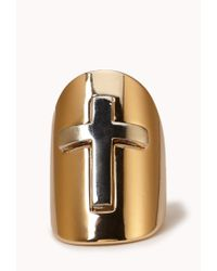 Forever 21 - Metallic Cross Knuckle Ring - Lyst