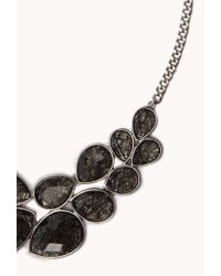 Forever 21 | Gray Statement Bib Necklace | Lyst