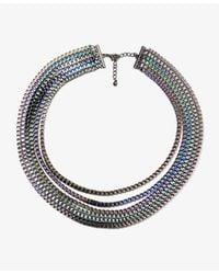 Forever 21   Metallic Technicolor Box Chain Necklace   Lyst