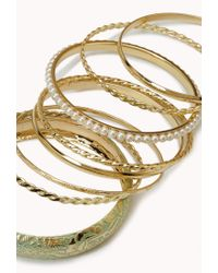 Forever 21 - Green Painted Pearlescent Bangle Set - Lyst