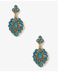 Forever 21 - Blue Colored Teardrop Earrings - Lyst