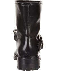 Giuseppe Zanotti Black Chain Strap Moto Boot