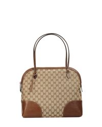 Gucci | Brown Bag Bree Dome Gg Leather | Lyst