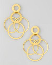 Herve Van Der Straeten - Metallic Interlocked-hoops Drop Earrings - Lyst