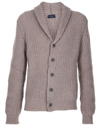 Lanvin | Gray Knitted Cardigan for Men | Lyst