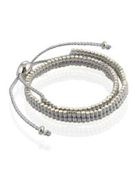 Links of London | Metallic Double Wrap Friendship Bracelet | Lyst