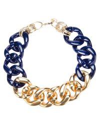 Marina Fossati - Blue Oversized Chain Necklace - Lyst