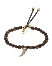 Michael Kors - Brown Bead Pavehorn Bracelet Tortoise - Lyst