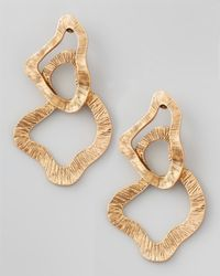 Oscar de la Renta | Metallic Sculpted Chain Earrings | Lyst