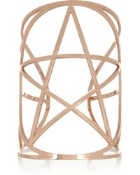 Pamela Love | Pink Mini Pentagram Rose Gold Plated Cuff | Lyst