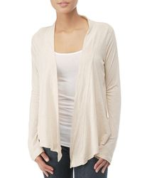 Splendid | White Light Jersey Wrap Cardigan | Lyst