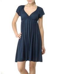 Splendid | Blue Short Sleeve Jersey Dress with Empire Waist | Lyst