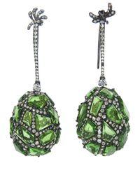 Arunashi | Green Tsavorite Stone Earring | Lyst