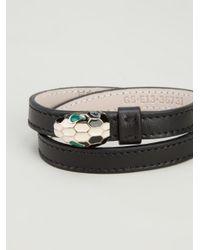 BVLGARI Black Snake Head Bracelet