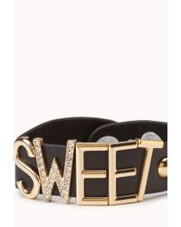 Forever 21 - Black Sweet Cuff - Lyst