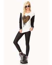 Forever 21 - Black Spotted Dripping Heart Sweatshirt - Lyst