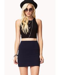 Forever 21 | Blue Bodycon Knit Mini Skirt | Lyst