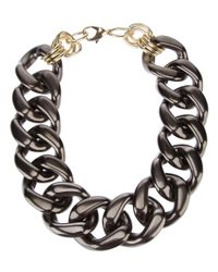 Marina Fossati | Black Oversized Chain Choker Necklace | Lyst