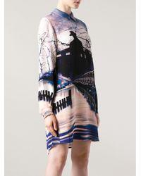Mary Katrantzou - Multicolor Printed Blouse Dress - Lyst