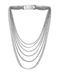 Michael Kors - Metallic Curb Multi-chain Necklace 28 - Lyst