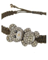 Pippo Perez - Brown Diamond Teddy Bear Bracelet - Lyst