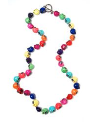 Shebee | Multicolor The Colt Skull Necklace | Lyst