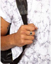 Seven London | Metallic Sterling Silver Ridge Ring for Men | Lyst
