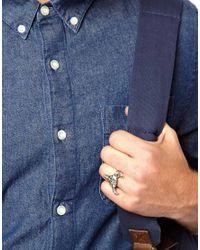 ASOS | Metallic Tally Hoe Buffalo Ring for Men | Lyst