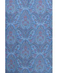 TOPMAN | Blue Short Sleeve Paisley Print Shirt for Men | Lyst