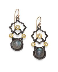 Alexis Bittar | Metallic Twotone Labradorite Drop Earrings | Lyst